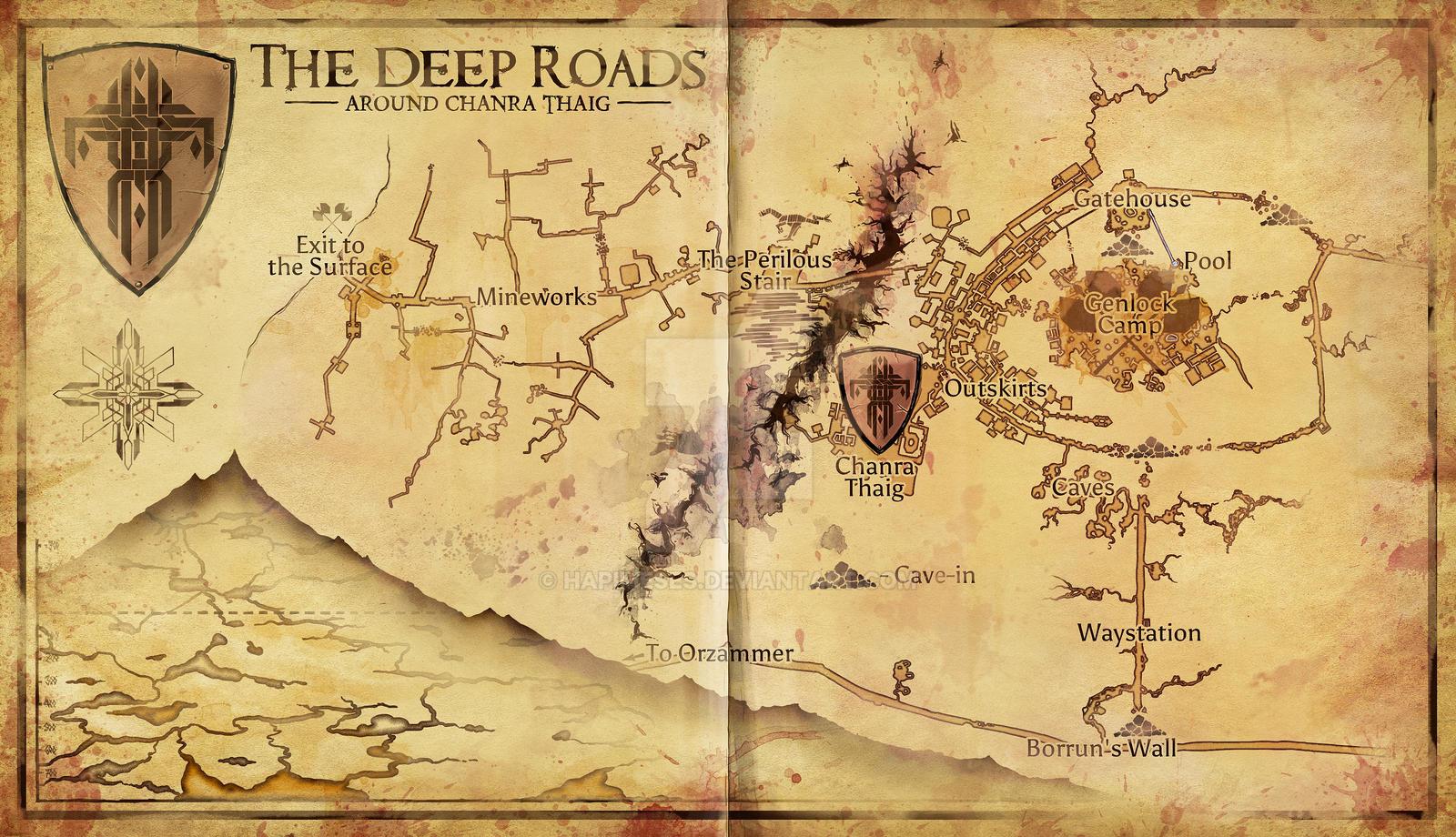 Dragon Age - Deep Road Area Map by Hapimeses on DeviantArt