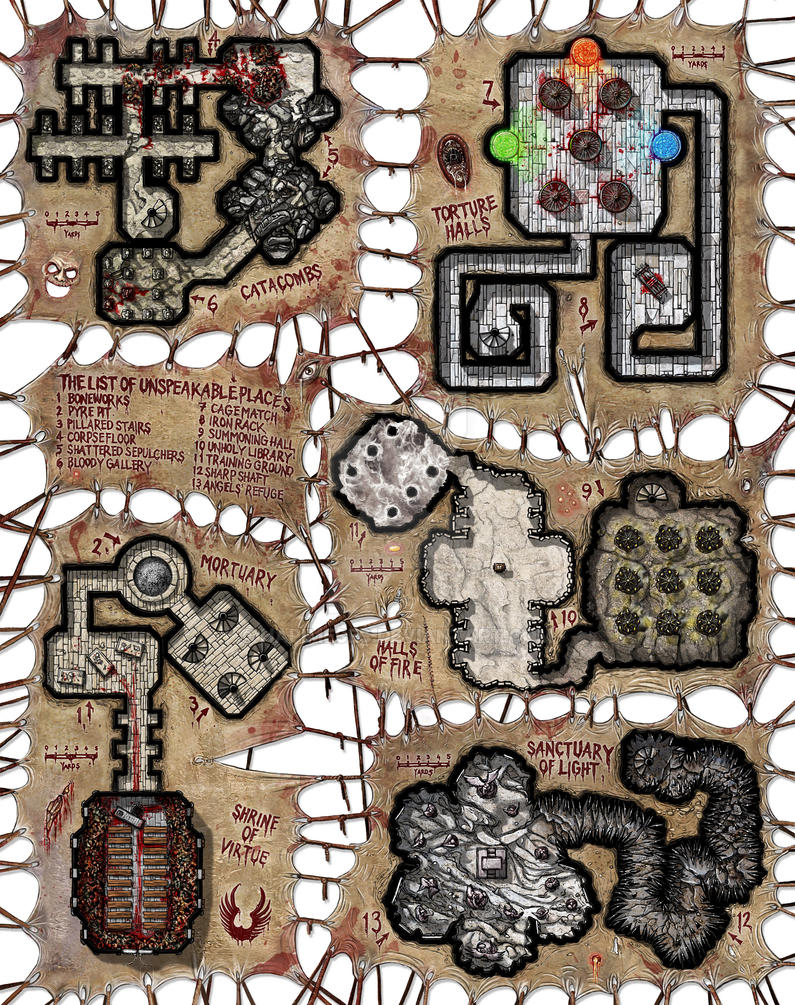 Quintet Map - Shadow of the Demon Lord by Hapimeses