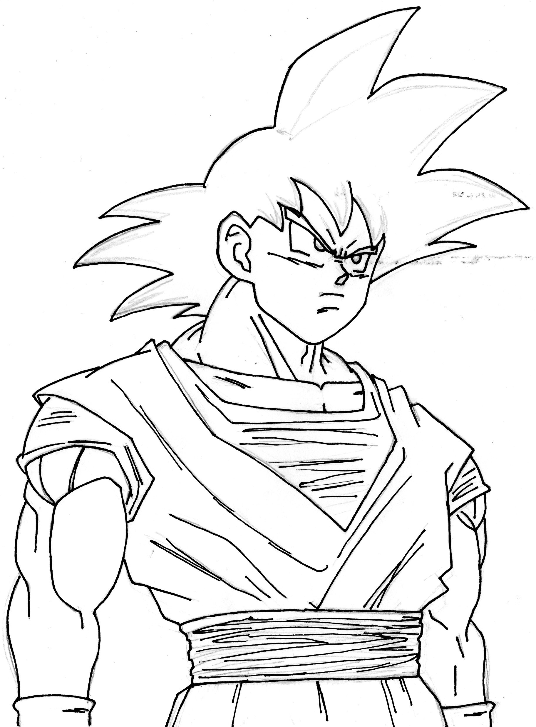 Goku Without Color By Aminoz6 On Deviantart