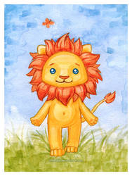 Small lion by Katy-Doll