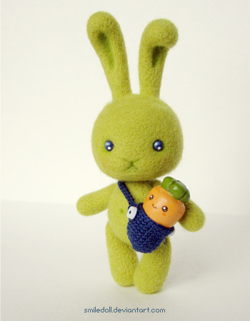 Green rabbit 03 by Katy-Doll