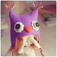Blythe owl hat