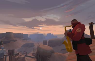 Sunset Saxophone by demongmod