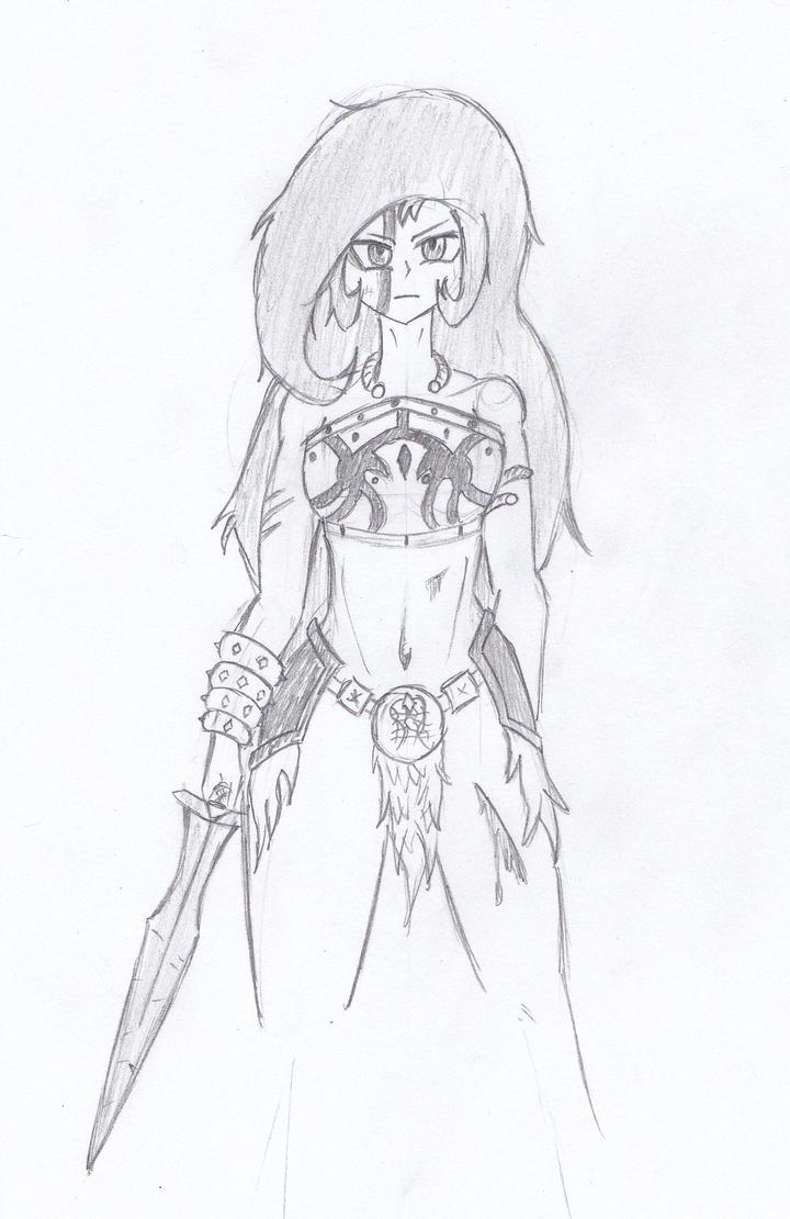 Sketch: Barbarian Princess by demongmod