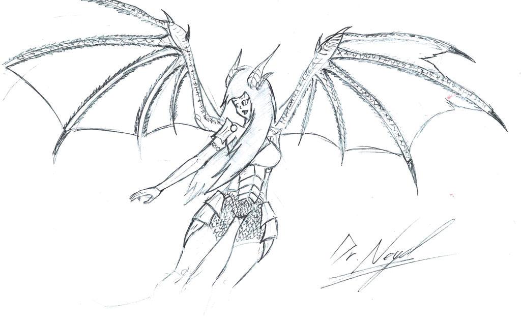 Sketch: DovaLauren by demongmod