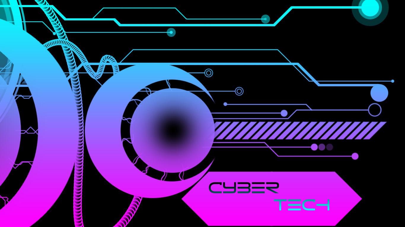 Cyber tech wallpaper by chzoul on deviantart - Cyber wallpaper ...