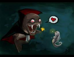 Evil Vampire Fish by frostcrystal
