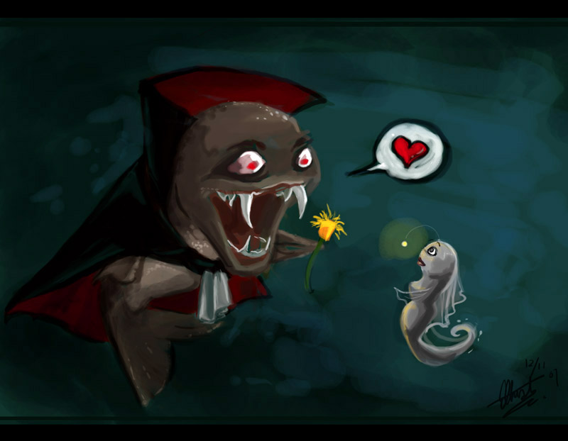 Evil vampire fish by frostcrystal on deviantart for Vampire fish for sale