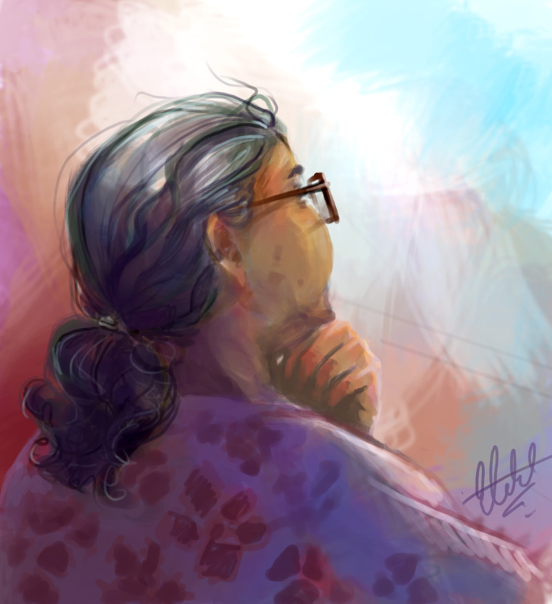 Old Lady at Church by frostcrystal