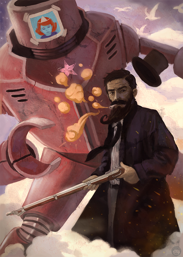Sexy Beard and Robo by AzamRaharjo