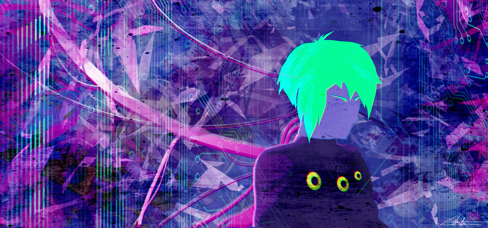 Neon Ghost In The Shell By Kaze33 On Deviantart