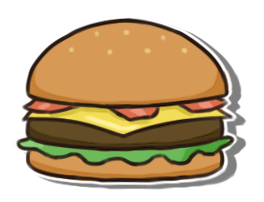 Burger Sticker by weuxj