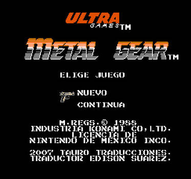 Metal Gear (NES) Spanish Title by Nosidex