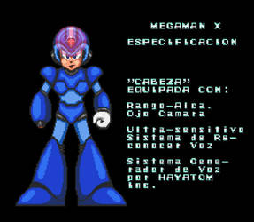 MegaMan X (Spanish) Specification by Nosidex