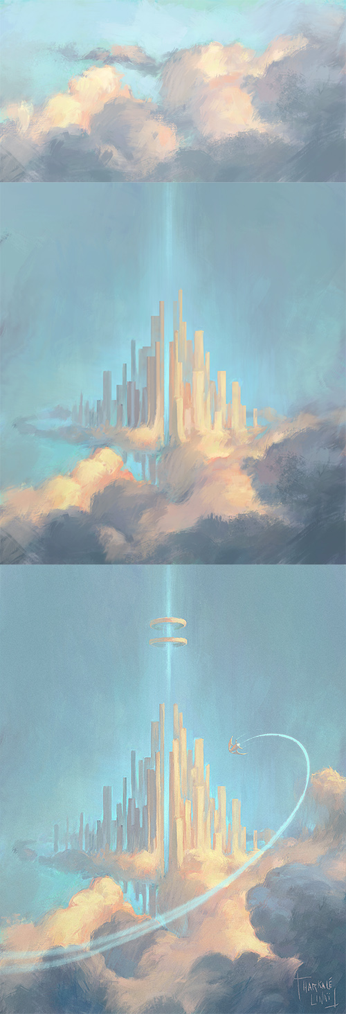 Steps of 'Cloud City' by Harkale-Linai