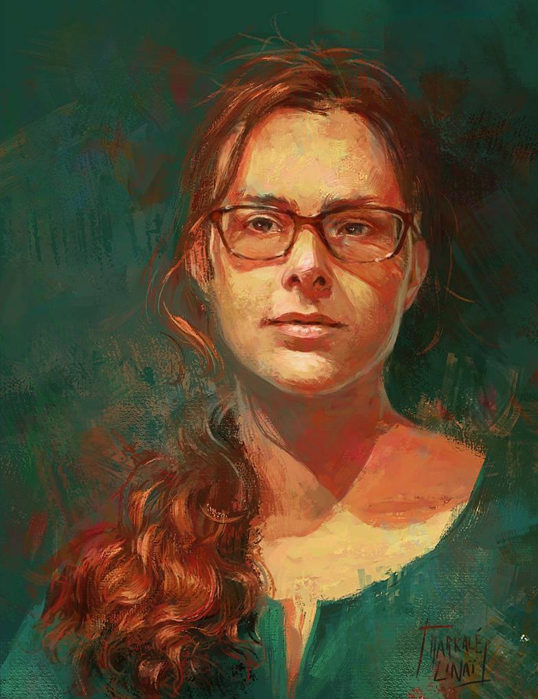 Self-Portrait by Harkale-Linai