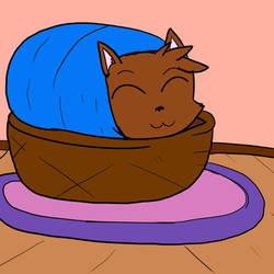 Fox in a basket