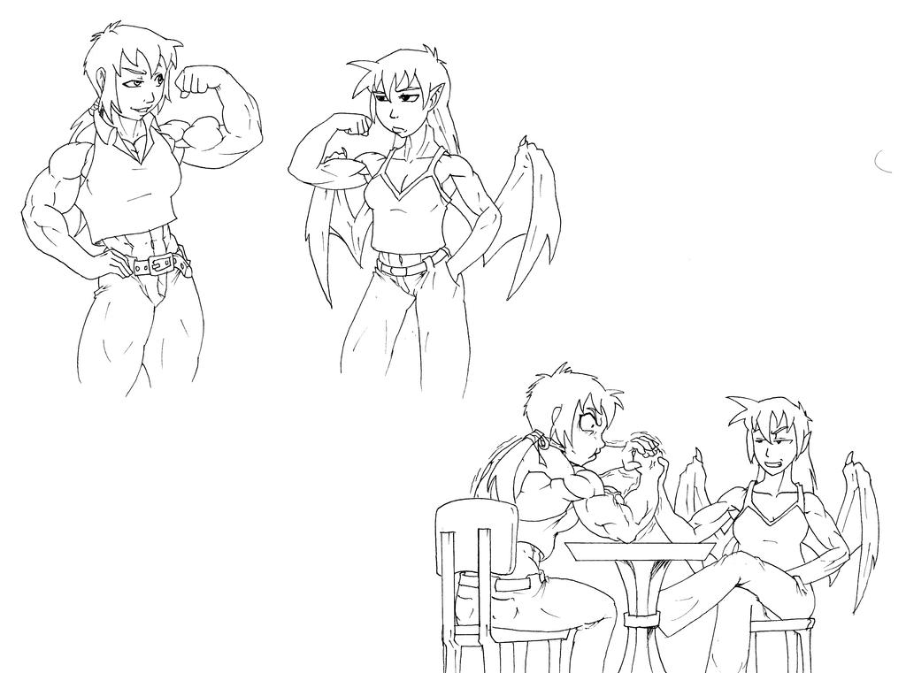Arm Wrestling: Who is Stronger?... by astaroth90