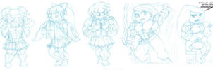 Ridiculously massive muscle chibis 3 by astaroth90