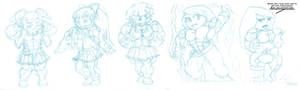 Ridiculously massive muscle chibis 3