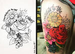 Shellys Finished Tat Design by Hailee Howard