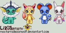 Pixel PKMN Babies by NocturnalMoonWolf