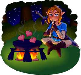 Link Playing the Recorder