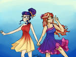 Sunset and Twi in dress