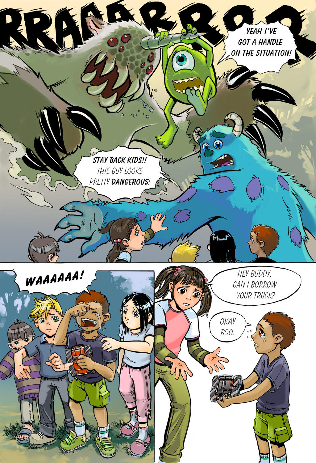 ... Lazesummerstone Monsters Inc Sample Pg 1 By Lazesummerstone