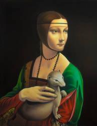 A girl with ermine by uvar
