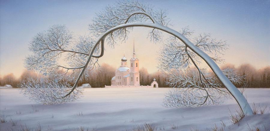 Winter Church by uvar