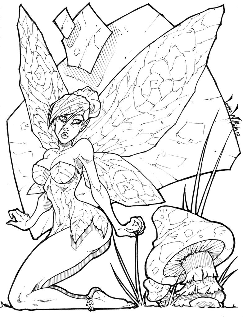 emo tinkerbell coloring pages - photo#28