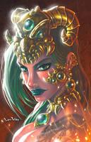Dragon PriestessDA by LordWilhelm