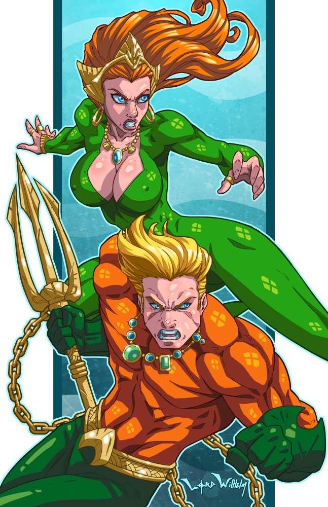 Aquaman and Mera by LordWilhelm