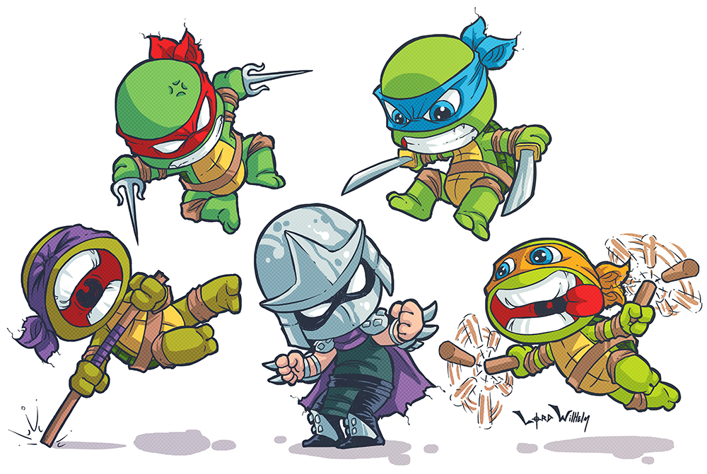 TMNT Skottie Young Style by LordWilhelm on DeviantArt