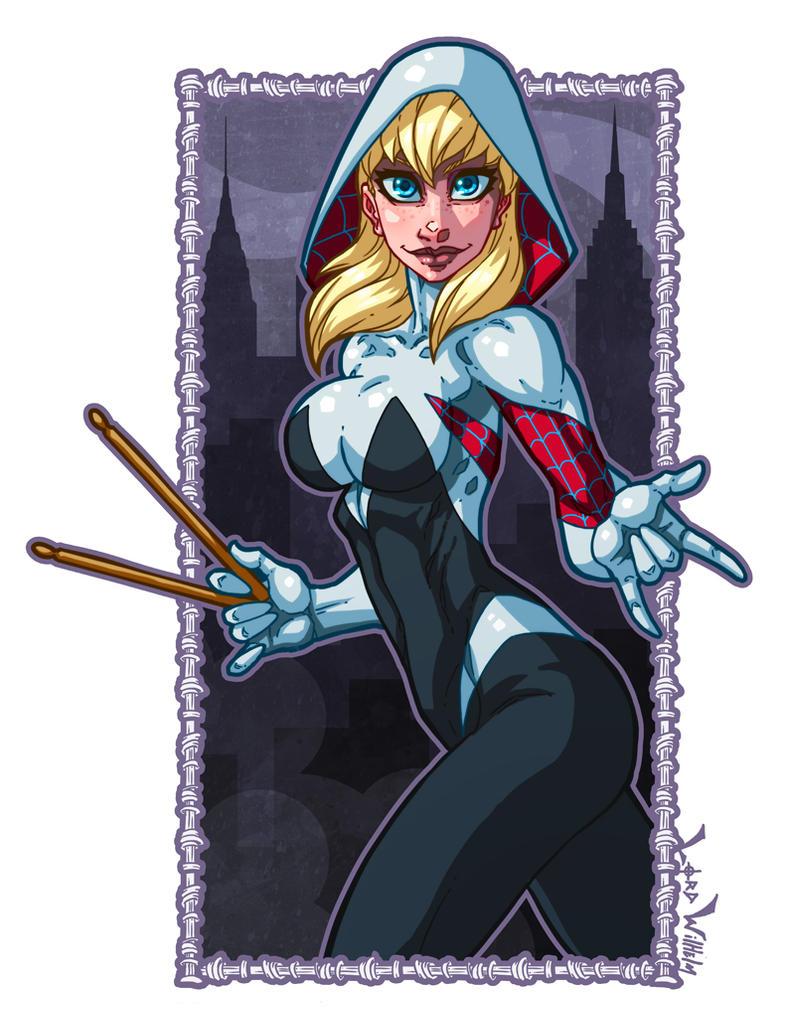 Spider Gwen P by LordWilhelm