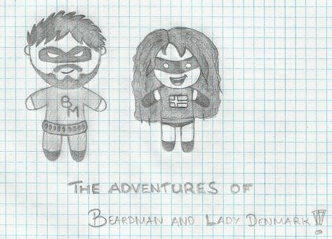 Beardman and Lady Denmark by Fingo007