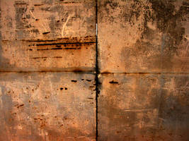 Rusty metal gate by franzfelscherdesign