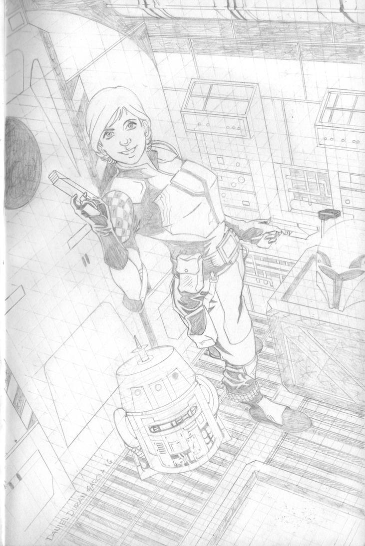 Star Wars Sabine Wren and Chopper pencils by DANDG