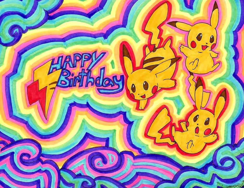 Happy Birthday with Pikachu by Zargata