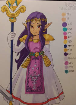Hilda in a Link to the Past style