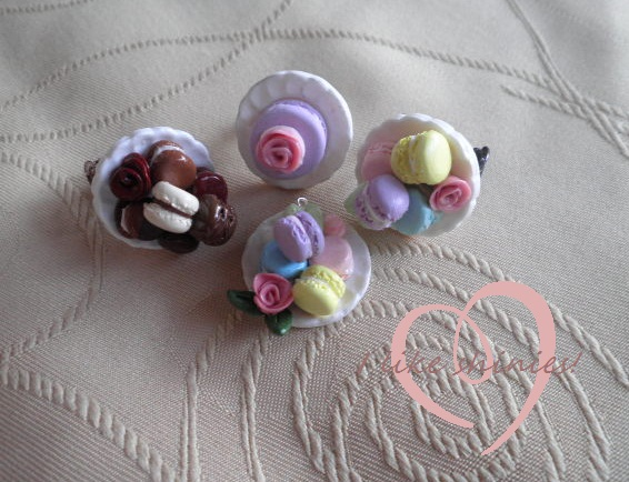 Various Macaron Jewellery by ilikeshiniesfakery