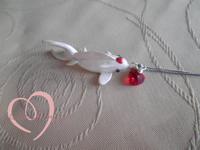 Koi fish pendant by ilikeshiniesfakery