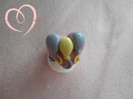 Pinkie Pie cutie mark ring by ilikeshiniesfakery