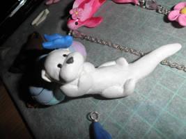 w.i.p.- otter necklace commish by ilikeshiniesfakery