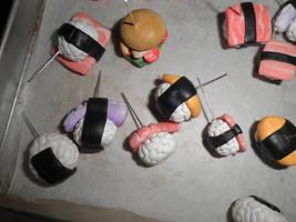 w.i.p. -: sushi charms by ilikeshiniesfakery