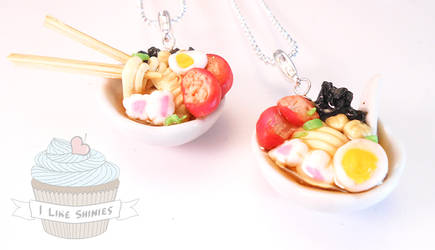 Ramen bowl necklace