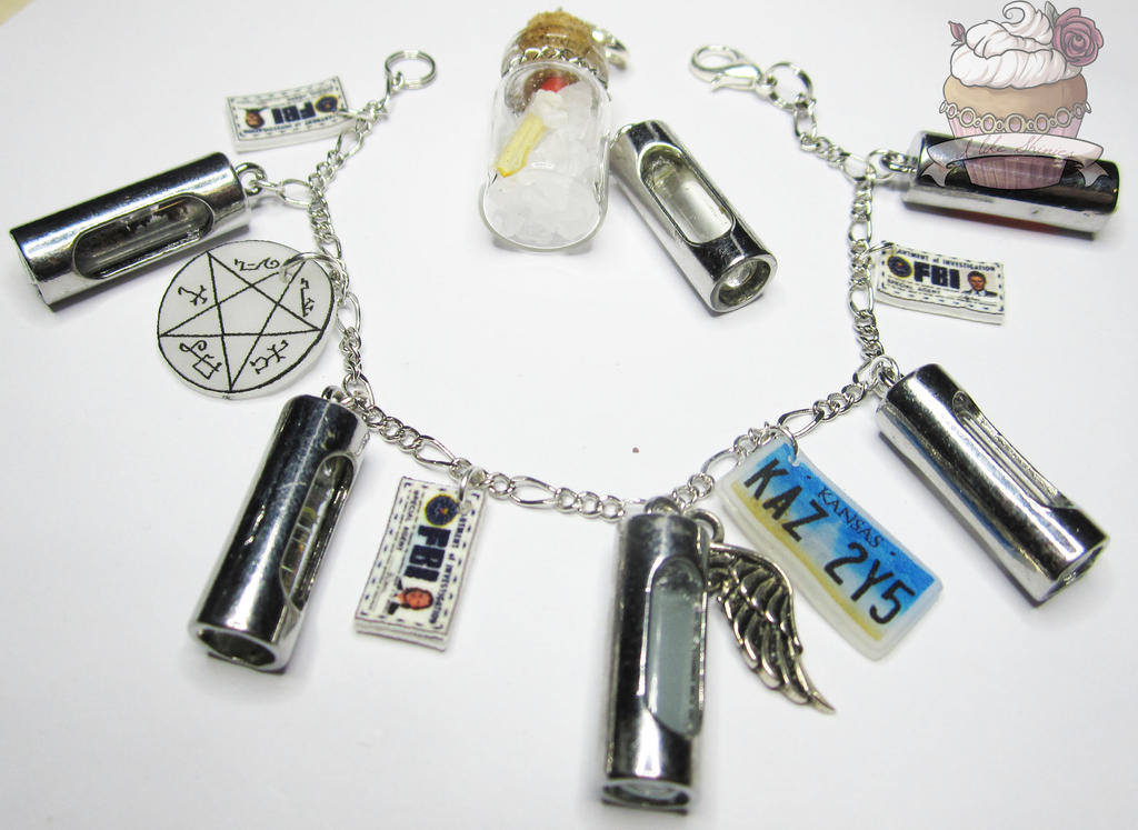 Supernatural inspired hunters jewellery set by ilikeshiniesfakery