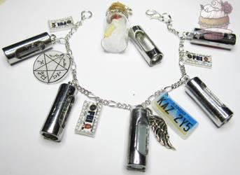 Supernatural inspired hunters jewellery set by ilikeshiniesfakery