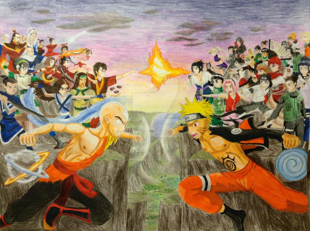 Avatar VS Naruto by simpsonsquireNaruto Vs Avatar